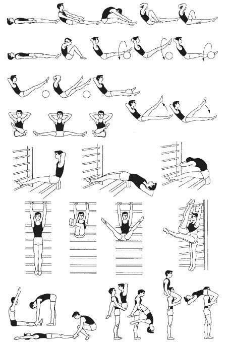 развития силы мышц живота