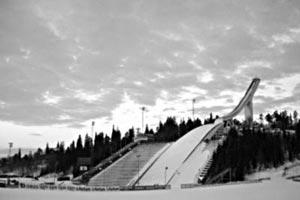 Олимпийский трамплин в Осло. 1952 г.